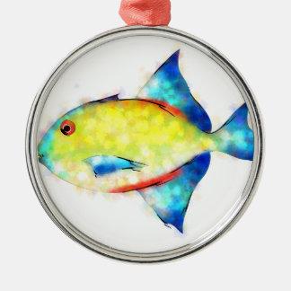 Esperimentoza - herrlicher Fisch Silbernes Ornament