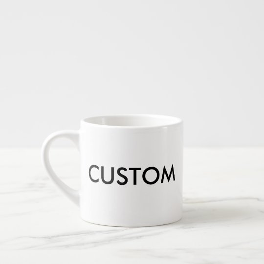 Espresso-Kaffeetasse der Gewohnheits-6oz weiße Espressotasse