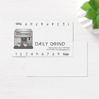 Espresso-Maschinen-Lochkarte Visitenkarte