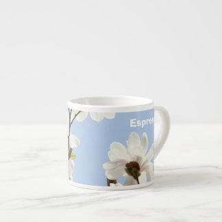 Espresso-Tassennatur blauer Himmel-Weiß-Magnolien Espresso-Tassen