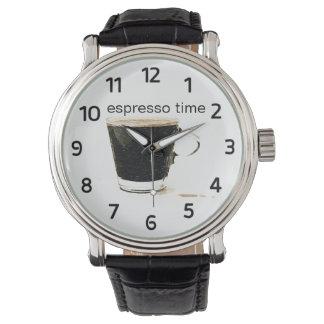 Espresso-Zeit-Uhr Uhr
