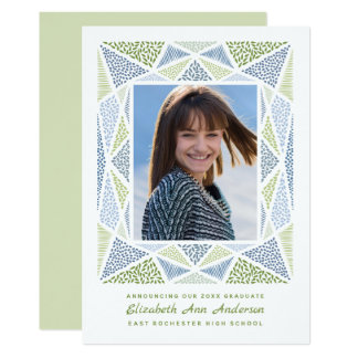 Esprit-Abschluss-Foto-Mitteilung blau u. grün Karte
