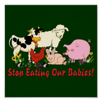Essen der Tierbabys Poster