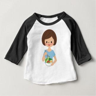 Essen des Salats Baby T-shirt