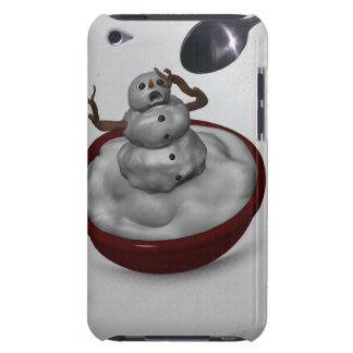 Essen des Schneemanns Barely There iPod Hüllen