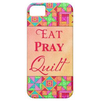 Essen Sie beten Steppdecken-bunte iPhone 5 Cover