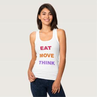 Essen Sie Bewegung denken das Trägershirt der Tank Top