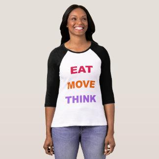 Essen Sie Bewegung denken der Raglan-Shirt der T-Shirt