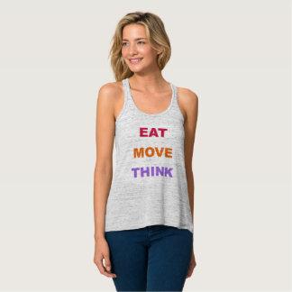 Essen Sie Bewegung denken Flowy Trägershirt Tank Top