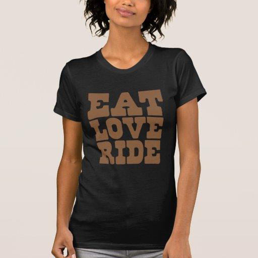 ESSEN Sie das lustige LIEBE-FAHRTpferdereiten T-shirt