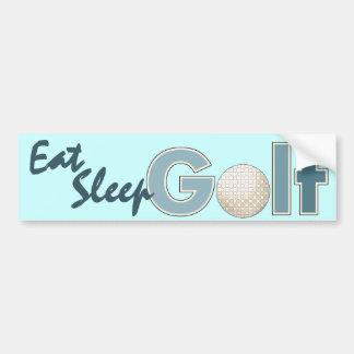 Essen Sie das Schlaf-Golf-lustige Golf spielen Autoaufkleber