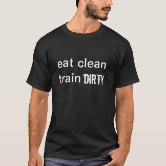 ESSEN Sie DEN SAUBEREN SCHMUTZIGEN ZUG - das T-Shirt