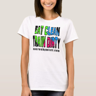 Essen Sie den sauberen schmutzigen Zug, Makro T-Shirt