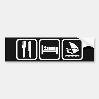 Essen Sie den Windsurfing Schlaf Autoaufkleber