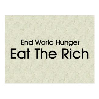Essen Sie die Reichen Postkarten