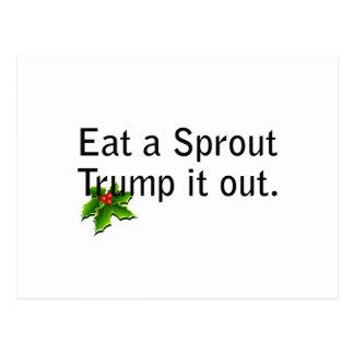 essen Sie einen Sprössling Postkarte