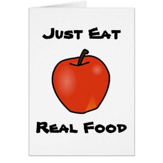Essen Sie einfach wirkliche Nahrung Karte