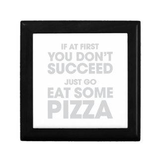 Essen Sie etwas Pizza Erinnerungskiste