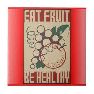 Essen Sie Fruchtfliese Fliese