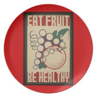 Essen Sie Fruchtplatte Melaminteller