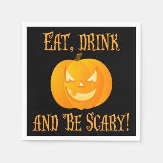 Essen Sie Getränk ist beängstigende Serviette