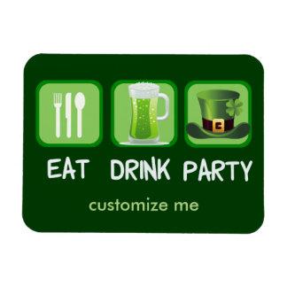 Essen Sie Getränk-Party-lustigen St Patrick Tag Magnet