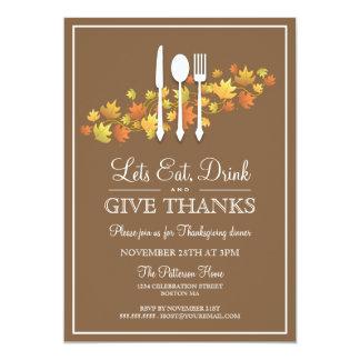 Essen Sie Getränk u. geben Sie 12,7 X 17,8 Cm Einladungskarte