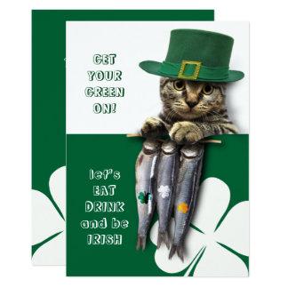 Essen Sie, Getränk u. seien Sie Iren-St Patrick Karte