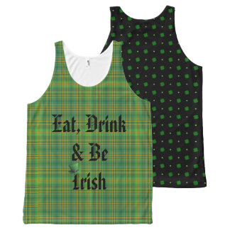 Essen Sie, Getränk u. seien Sie irisch Komplett Bedrucktes Tanktop