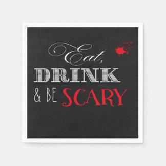Essen Sie Getränk und seien Sie beängstigende Servietten