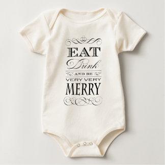Essen Sie Getränk und seien Sie sehr sehr Baby Strampler