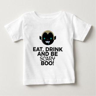 Essen Sie Getränkbeängstigenden Baby T-shirt