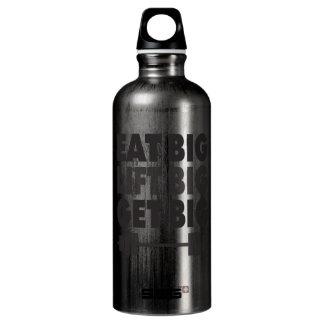 Essen Sie großes, heben Sie großes an, erhalten Aluminiumwasserflasche