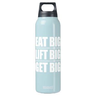 Essen Sie großes, heben Sie großes an, erhalten Isolierte Flasche