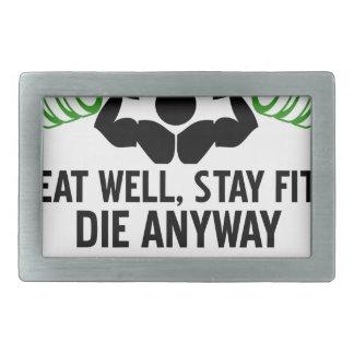 essen Sie gut Rechteckige Gürtelschnalle