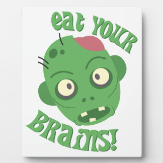 Essen Sie Ihre Gehirne Fotoplatten