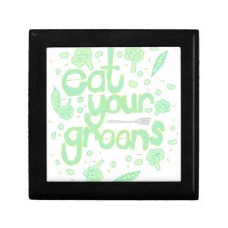 essen Sie Ihre Grüntöne Erinnerungskiste