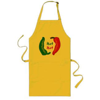Essen Sie Ihre Veggies-heiße Chili Jalapeño Lange Schürze