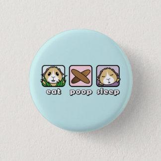 Essen Sie kacken Runder Button 2,5 Cm