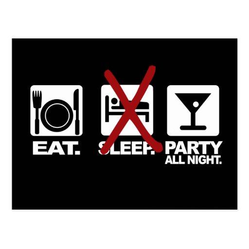 Essen Sie - kein Schlaf - Postkarten