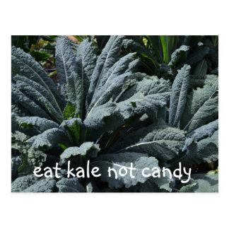 Essen Sie Kohl-nicht Süßigkeits-Postkarte Postkarte