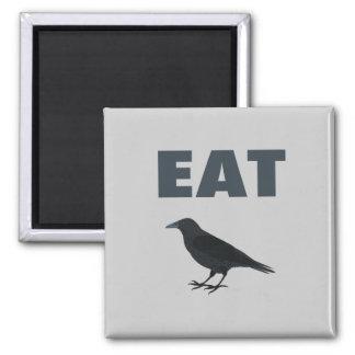 Essen Sie Krähe Quadratischer Magnet