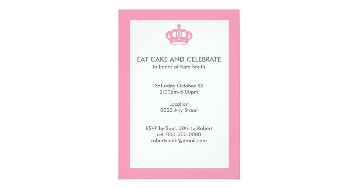 essen sie kuchen und feiern sie geburtstag 12 7 x 17 8 cm einladungskarte zazzle. Black Bedroom Furniture Sets. Home Design Ideas