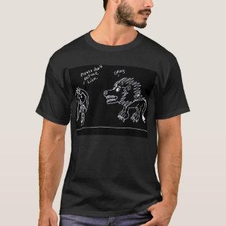 Essen Sie, Löwe T-Shirt