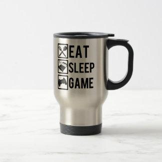 Essen Sie lustige Tasse des Schlaf-Spiels
