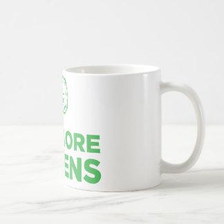 Essen Sie mehr Grüntöne Kaffeetasse