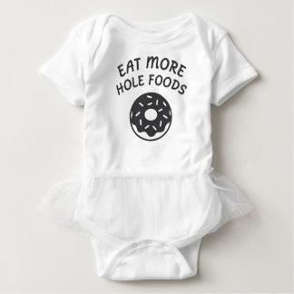 Essen Sie mehr Loch-Nahrungsmittel Baby Strampler