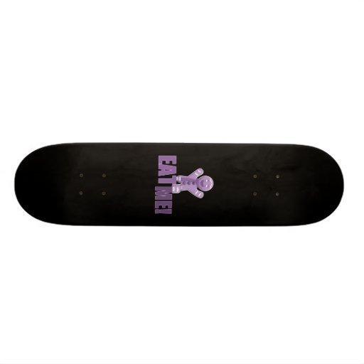 ESSEN SIE MICH! Lebkuchen-Mann - lila Skateboard Deck