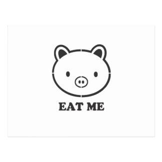 Essen Sie mich Schwein Postkarte