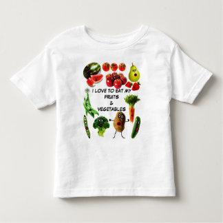 Essen Sie Obst und Gemüse Kleinkinder T-shirt